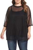 Glamorous Embroidered Mesh Top (Plus Size)