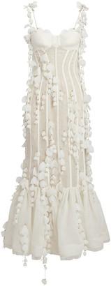 Zimmermann Botanica Silk-Linen Petal Gown
