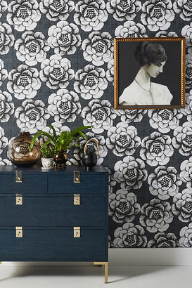 Anthropologie Fanciful Floral Wallpaper By in Grey