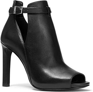 MICHAEL Michael Kors Lawson Open Toe (Black) Women's Shoes