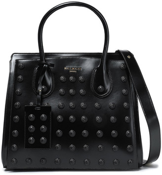 Balmain Embellished Glossed-leather Tote