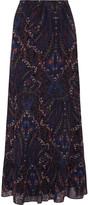 Joie Traluna printed silk maxi skirt