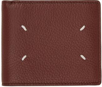 Maison Margiela Brown Leather Bifold Wallet