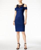 GUESS Cold-Shoulder Illusion Midi Dress