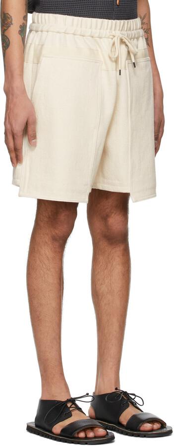 Thumbnail for your product : Kuro Off-White Denim Loose Baker Shorts