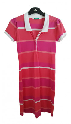 Benetton Pink Cotton Dresses
