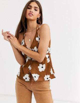 Vero Moda floral v front cami top