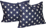One Kings Lane Vintage American Flag Star Pillows, Pair