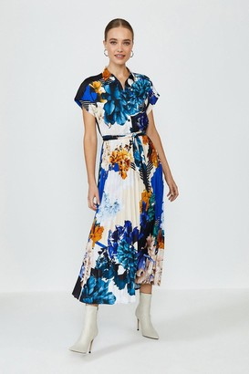 Coast Short Sleeve Floral Print Shirt Dress