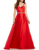 Ellie Wilde Strapless A-Line Overskirt Long Dress