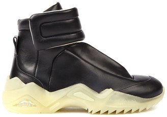 Maison Margiela Future Black Leather High-top Sneakers