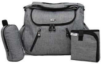 Gr8x Zoe Snowflake Grey Baby Bag Grey