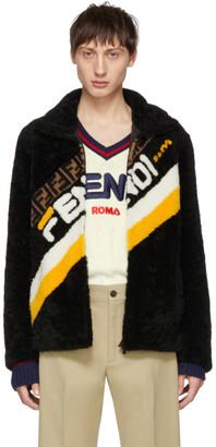 Fendi Black Shearling Mania Jacket