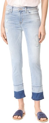 Hudson Women's Zoeey High Rise Straight Jean with Released Raw Hem