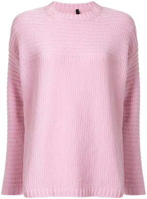 Sara Lanzi Crew-Neck Knit Sweater