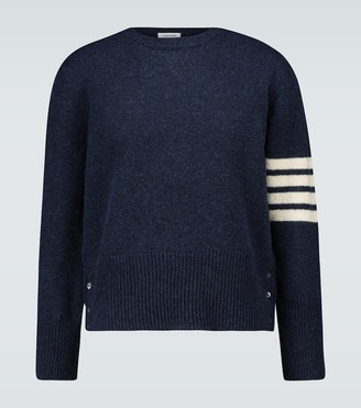 Thom Browne 4-Bar Shetland wool sweater