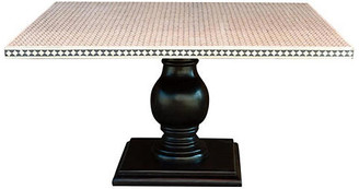 One Kings Lane Vintage Black and White Inlay Square Table - de-cor