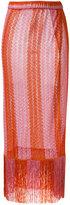 Missoni long knitted skirt - women - Polyester/Cupro/Viscose - 42