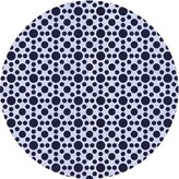 Blue Area Nome Polka Dots Wool Rug East Urban Home Rug Size: Runner 2' x 5'