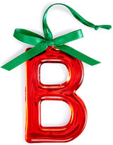 Holiday Lane Red Initial Ornament