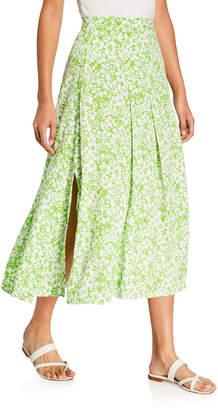 Faithfull The Brand Cuesta Floral-Print Midi Skirt
