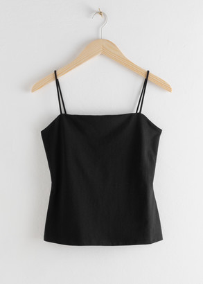 And other stories Square Neck Cotton Tank Top