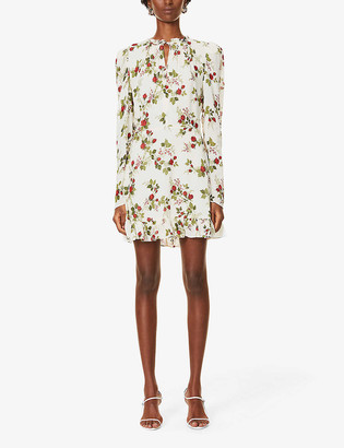 Reformation Macy floral-print crepe mini dress