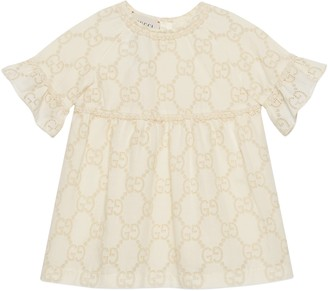 Gucci Baby GG Broderie Anglaise dress