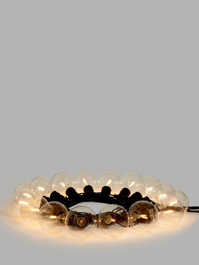 John Lewis & Partners Festoon Outdoor Line Lights, Extra Large, Clear