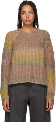 Acne Studios Yellow and Pink Alpaca Kyla Sweater