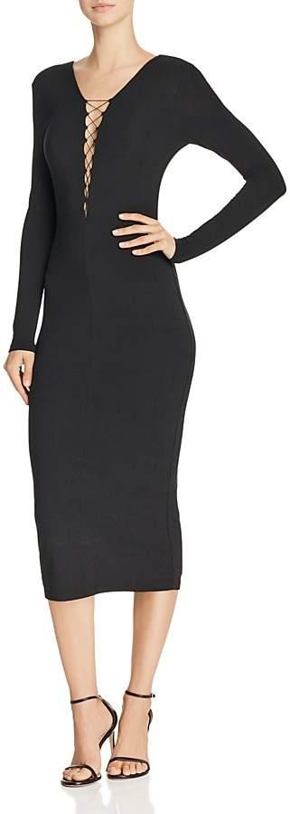 Alexander Wang Lace-Up Jersey Dress
