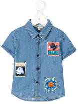 Kenzo patch detailed denim shirt - kids - Cotton - 6 mth