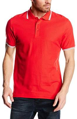 Fruit of the Loom Men's Tipped Premium Polo Shirt,Small