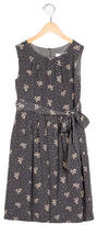 Rachel Riley Girls' Bow Print Silk Dress