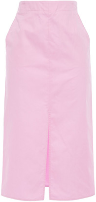 Emilio Pucci Split-front Cotton-poplin Pencil Skirt