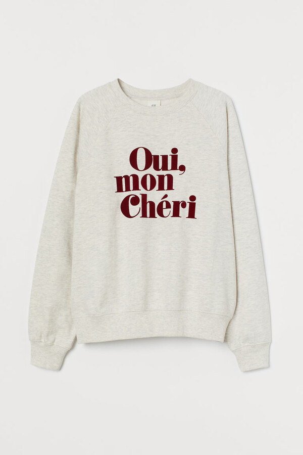Thumbnail for your product : H&M Printed Sweatshirt - White