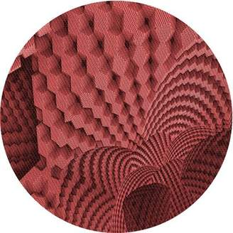 Schick East Urban Home Abstract Wool Red Area Rug East Urban Home Rug Size: Rectangle 2' x 4'