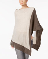 Charter Club Cashmere Colorblocked Poncho, Created for Macy's