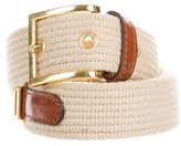 Moschino Leather-Trimmed Canvas Belt