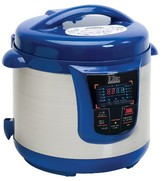 Elite Platinum Stainless Steel Electric Pressure Cooker 8 qt. - Blue