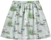 Cath Kidston Duck Pond Encased Elastic Back Skirt