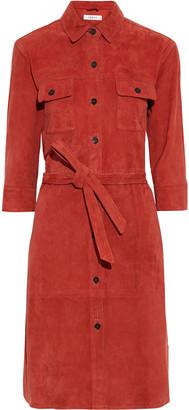 Frame Belted Suede Shirt Dress