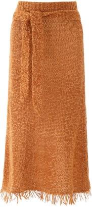 Nanushka Fringed Seda Skirt