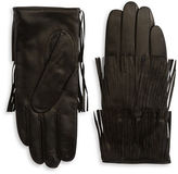 Carolina Amato Fringed Leather Gloves