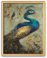 """Art.com Peacock on Sage I"""" Framed Art Print by Tiffany Hakimipour"""