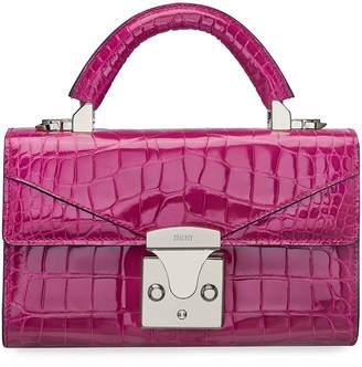 Stalvey Mini Crocodile Top-Handle Bag