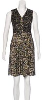 Bottega Veneta Lace & Abstract Print Dress