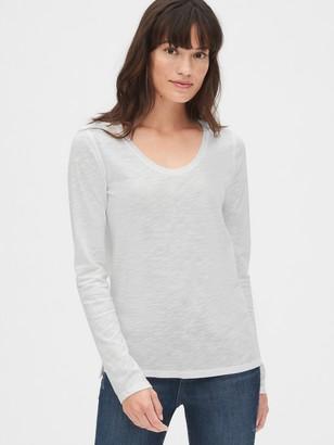 Gap Soft Slub Long Sleeve U-Neck T-Shirt