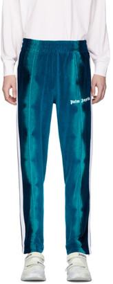 Palm Angels Blue Chenille Tie-Dye Lounge Pants