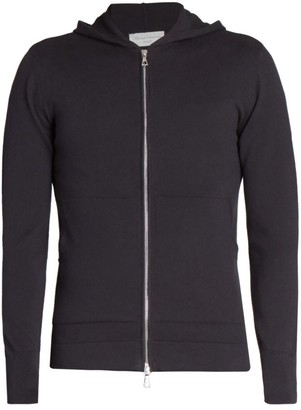 Officine Generale Two-Way Zip Wool-Blend Hoodie